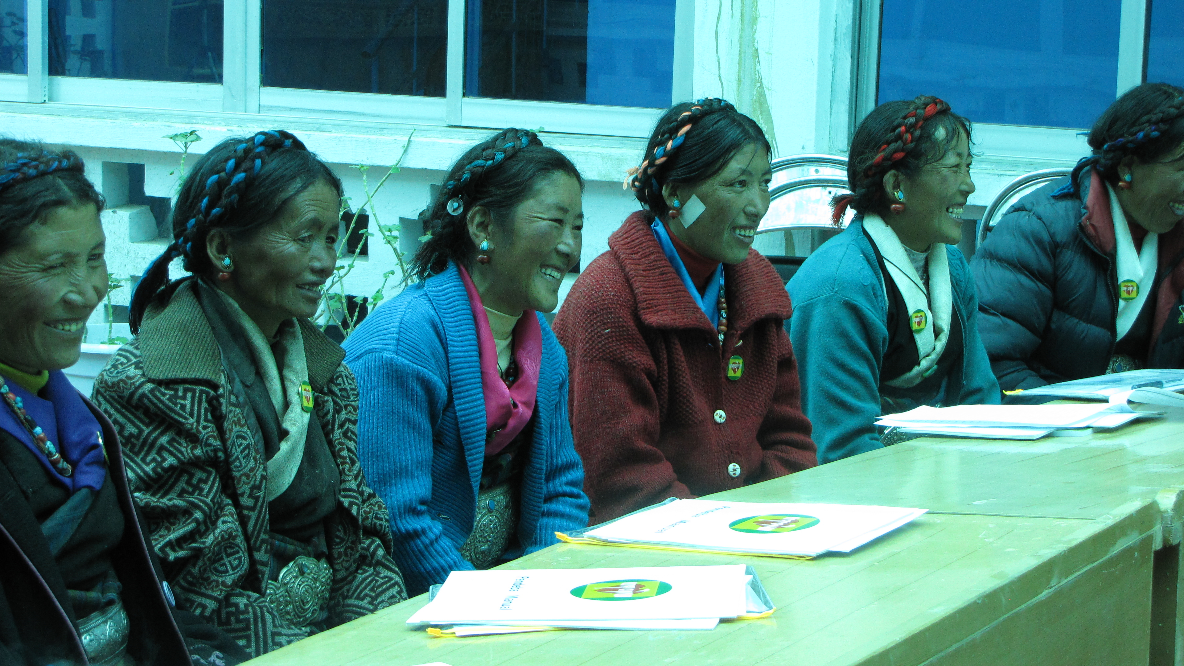 Pendebas lead community meetings so the local people have input to government decisions